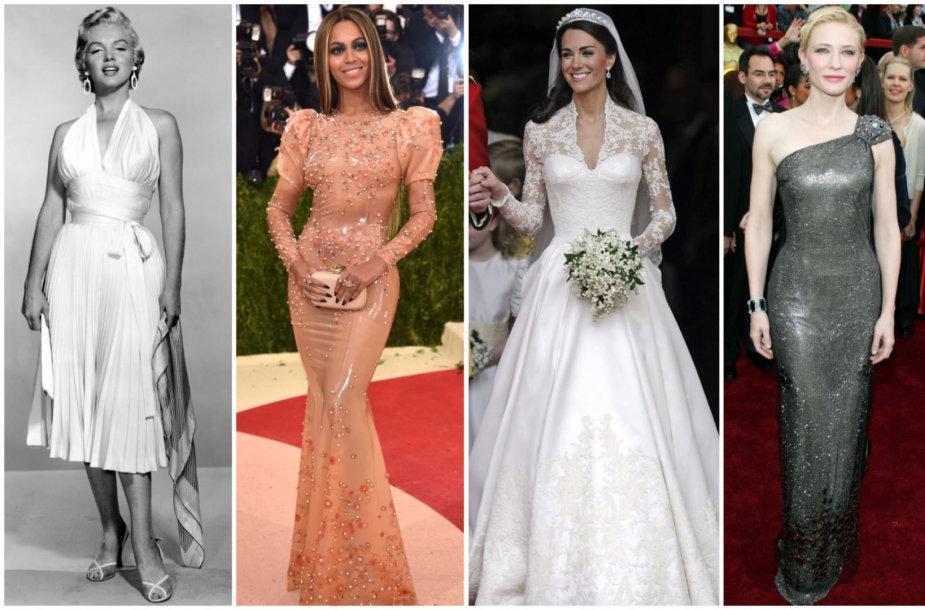 Marilyn Monroe, Beyoncé Knowles, Kate Middleton, Cate Blanchett