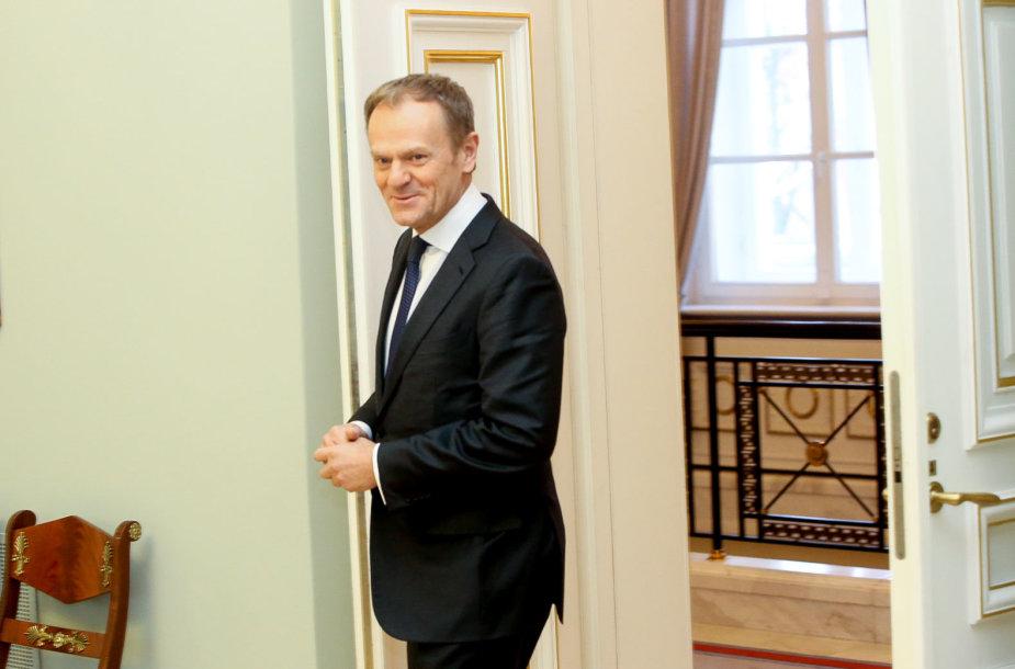 Prezidentė Dalia Grybauskaitė  susitika su Europos Vadovų Tarybos Pirmininku Donaldu Tusku