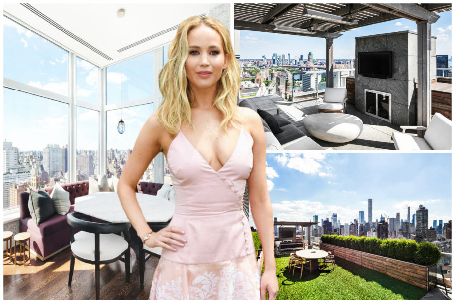 Jennifer Lawrence parduoda penthauzą Manhatane