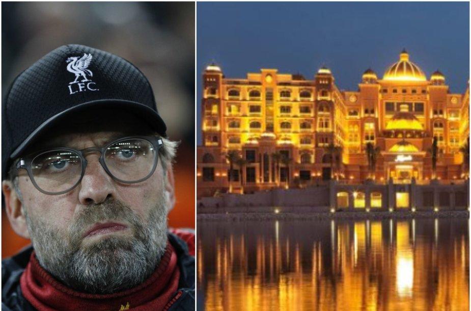 J.Kloppas buvo paklaustas apie Katarą ir viešbutį.