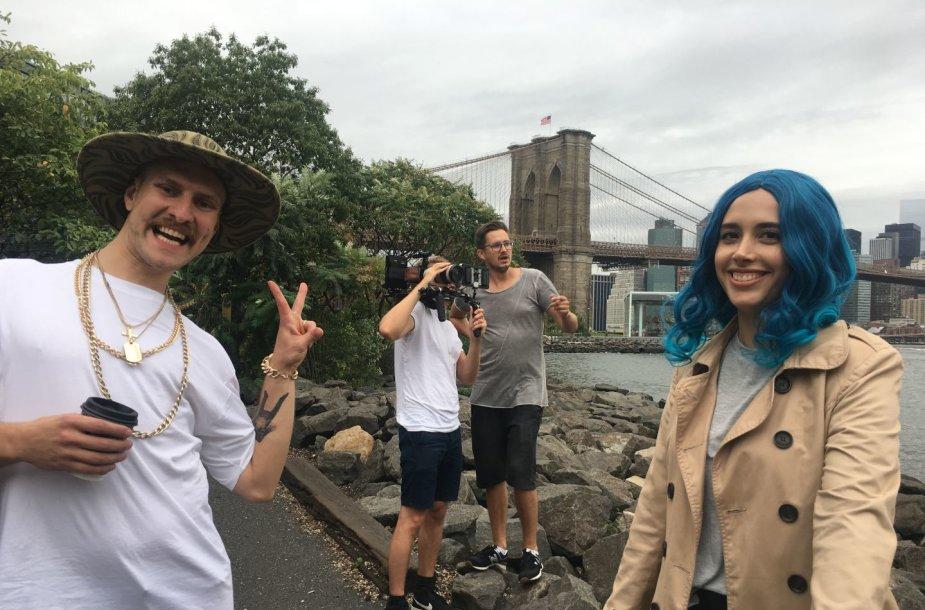 """Komedijos """"Aš Žvaigždė"""" filmavimas Niujorke"""