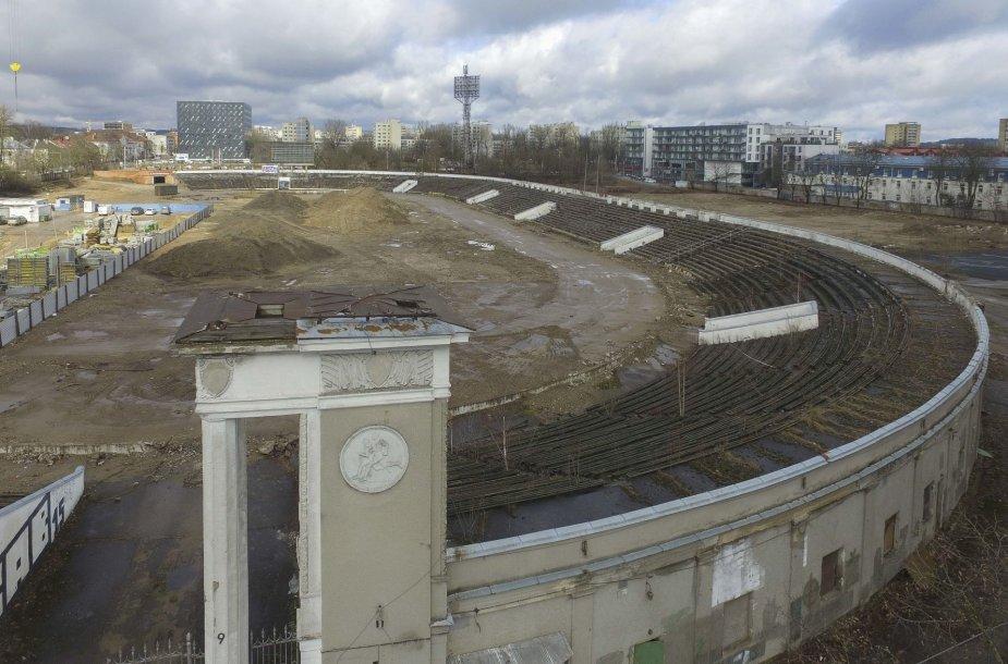 """Žalgirio stadiono teritorijoje  statomas viešbutis """"Marriott"""""""