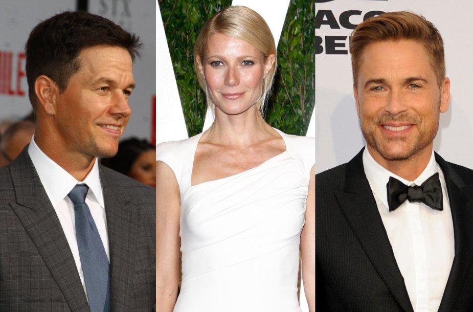 Markas Wahlbergas, Gwyneth Paltrow, Robas Lowe'as