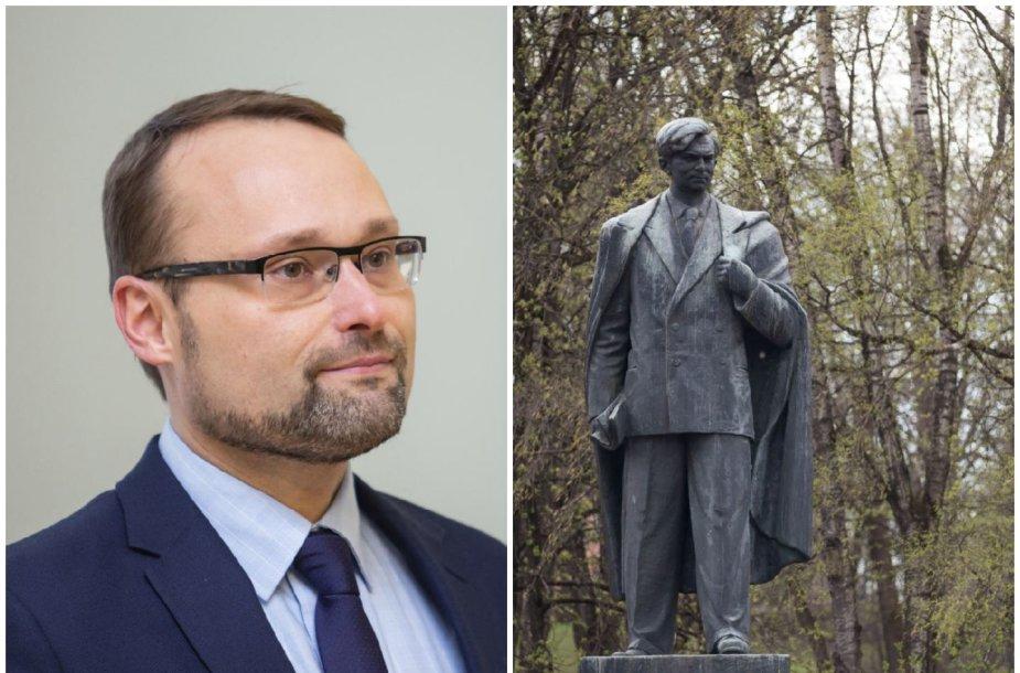 Kultūros ministras Mindaugas Kvietkauskas kviečia neskubėti spręsti dėl P.Cvirkos paminklo