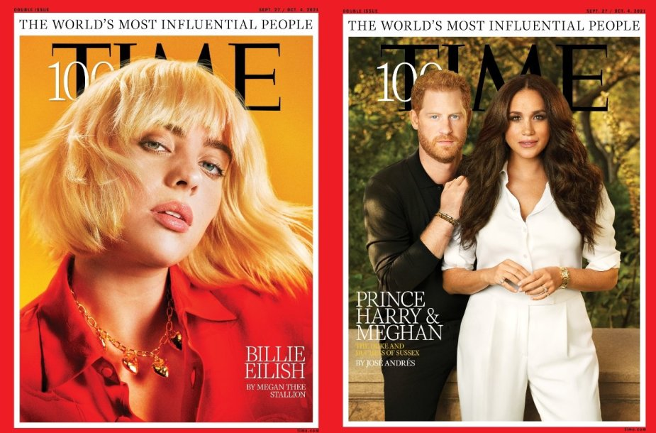 """Tarp """"Time"""" 100 įtakingiausių žmonių – Billie Eilish, princas Harry ir Meghan Markle"""