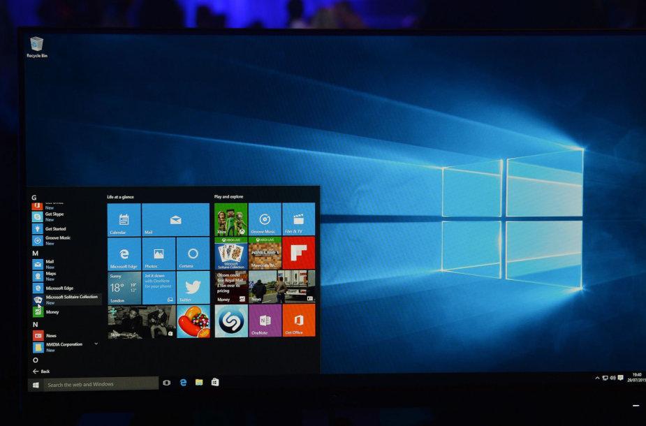 """""""Microsoft Windows 10"""" operacinė sistema"""