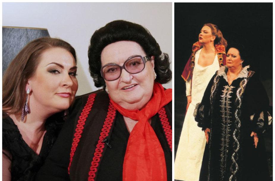 Montserrat Caballe ir Nomeda Kazlaus