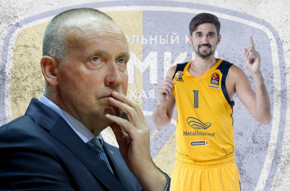 Rimas Kurtinaitis ir Aleksejus Švedas