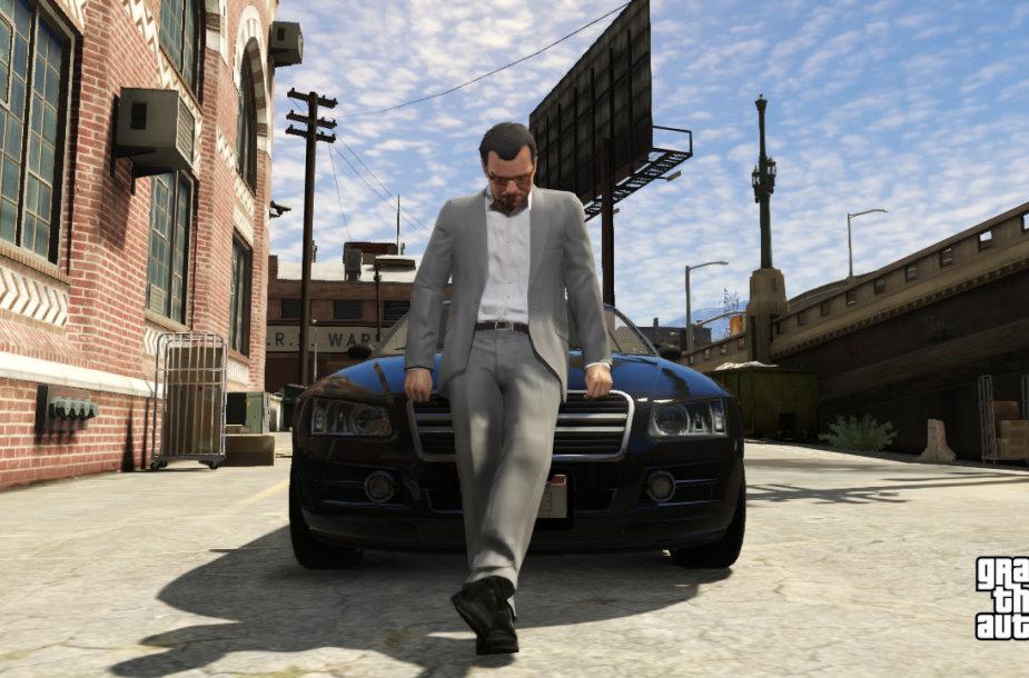 """Žaidimo """"GTA 5"""" kadras"""