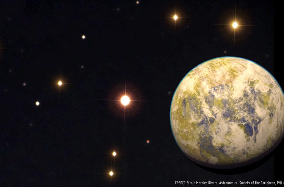 Taip gali atrodyti potencialiai gyvenama planeta Gliese 832c