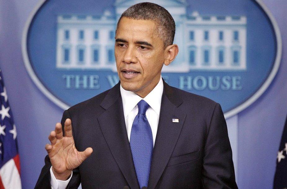 VIDEO kadras: Barackas Obama kalba apie sprogimą Bostone