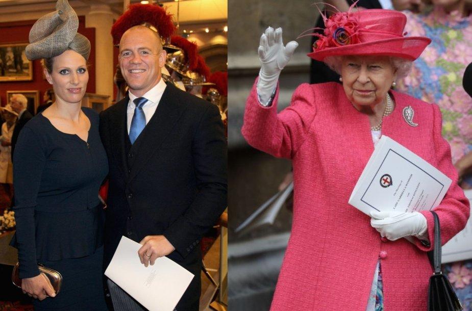 Zara ir Mike'as Tindallai, Elizabeth II