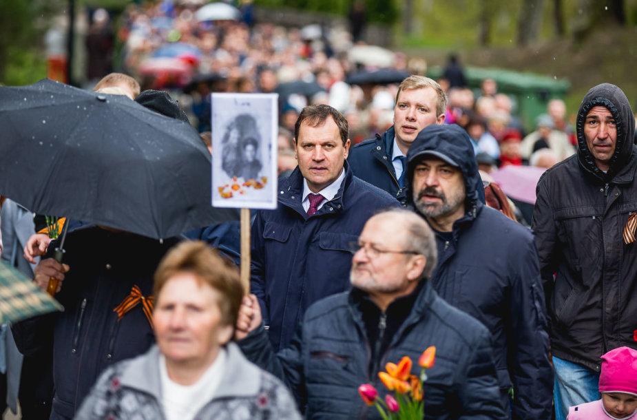 Valdemaras Tomaševskis gegužės 9-osios minėjime Antakalnio kapinėse