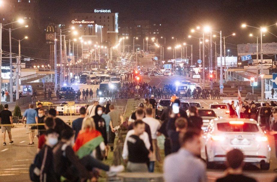 Baltarusijos fotografai dalinasi vaizdais iš protestų jų šalyje
