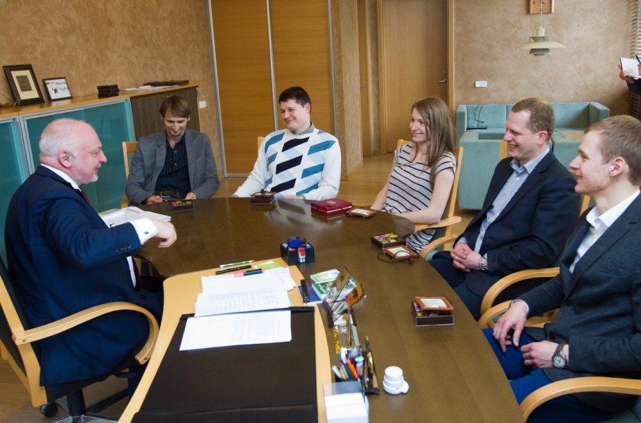 Aplinkos ministras ir olimpiečiai