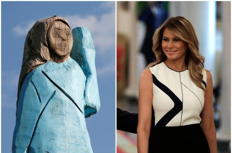 Melaniai Trump skirta skulptūra Slovėnijoje