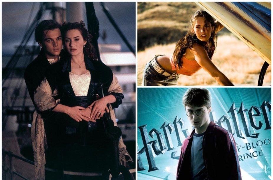 Leonardo DiCaprio, Kate Winslet, Megan Fox, Danielis Radcliffe'as