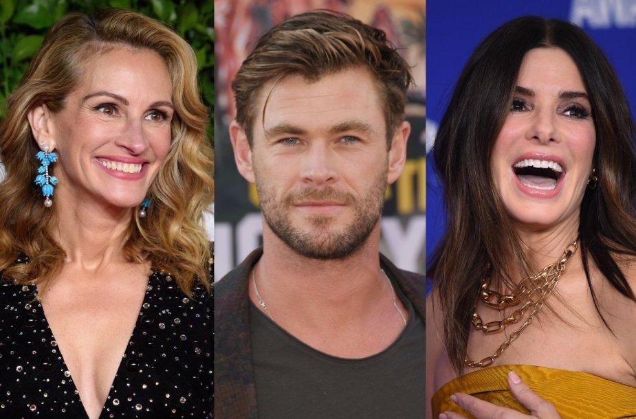 Julia Roberts, Chrisas Hemsworthas, Sandra Bullock