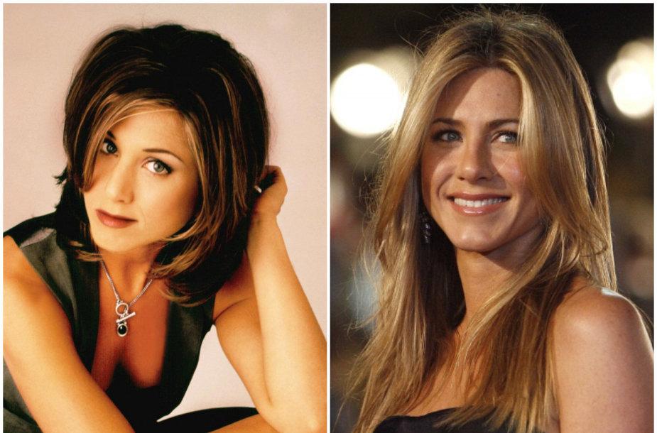 Aktorė Jennifer Aniston anksčiau ir dabar
