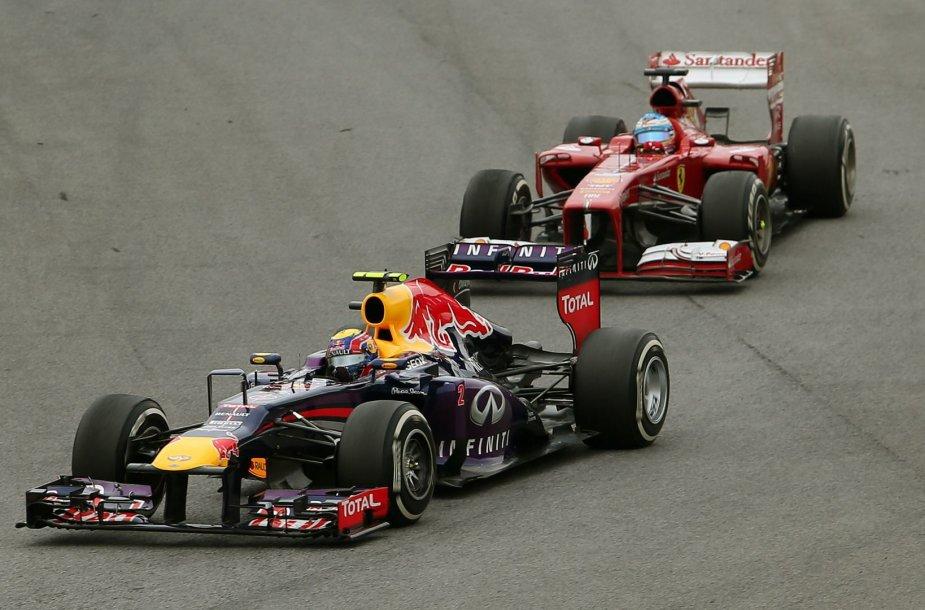 Markas Webberis ir Fernando Alonso