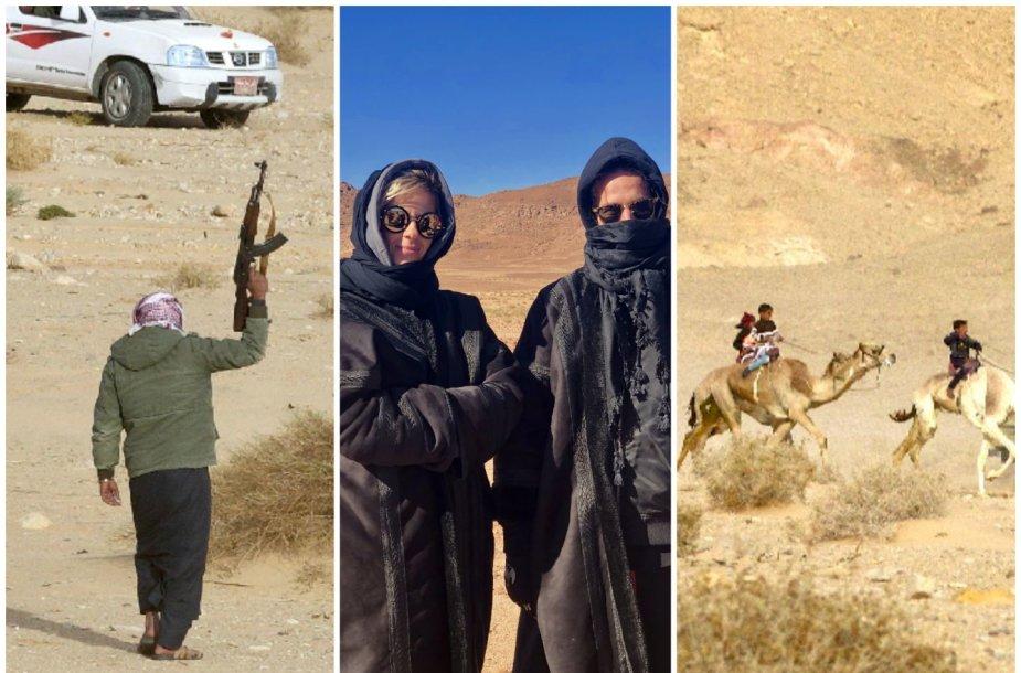 Lietuviai Egipte pamatė išskirtinį renginį – beduinų kupranugarių lenktynes