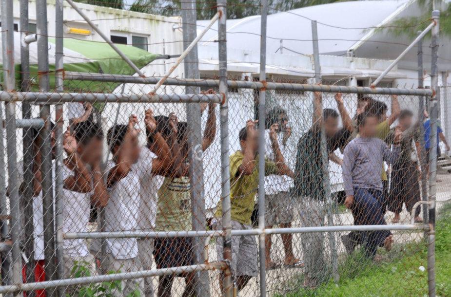 Prieglobsčio prašytojų sulaikymo centras Manuso saloje
