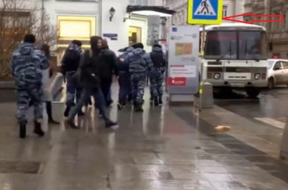 """Stop Cham"" aktyvistų sulaikymas Maskvoje"