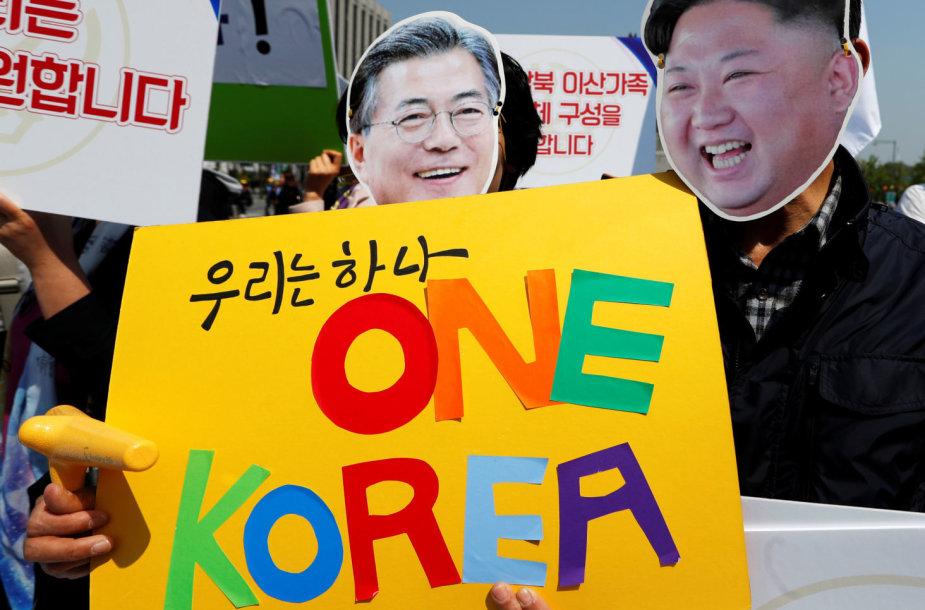 Suvienyta Korėja kol kas toli nuo realybės