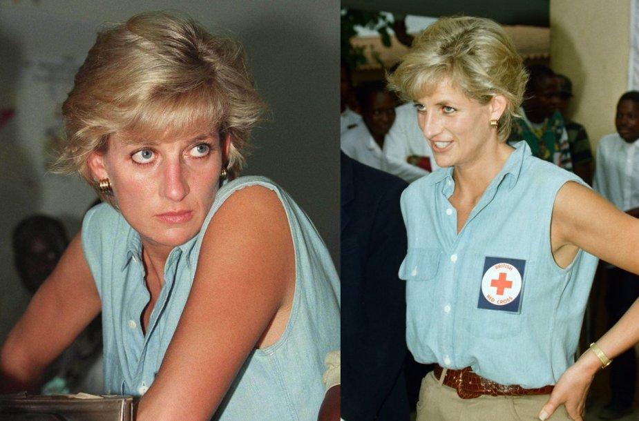 Princesė Diana Angoloje 1997 m.