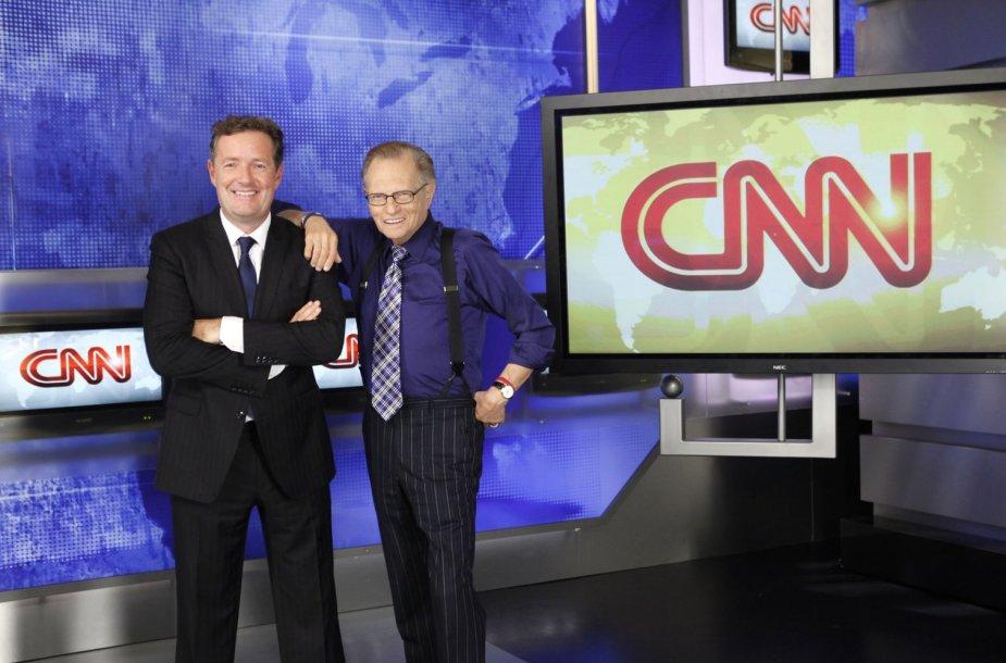 CNN legendos: 2010 m. pasitraukęs Larry Kingas ir Piersas Morganas