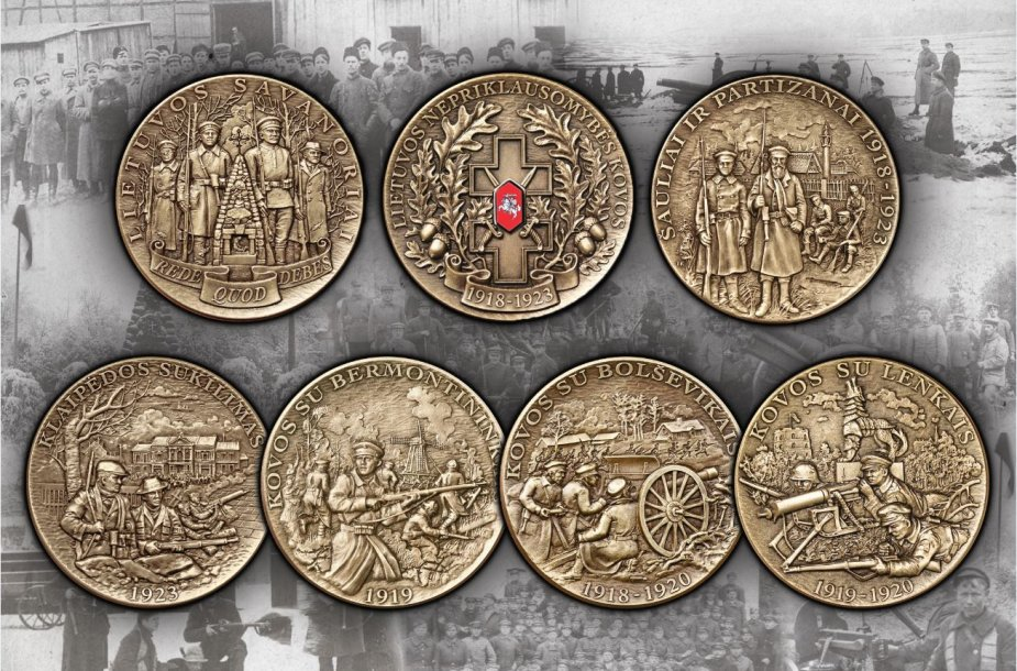 Nepriklausomybės kovotojų medalių rinkinys