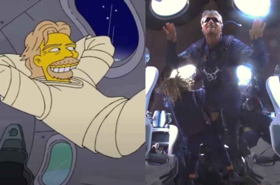 """Ištrauka iš serialo """"Simpsonai"""", Richardas Bransonas"""