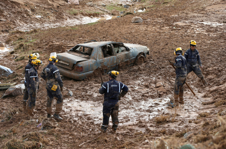 Potvynio Jordanijoje padariniai