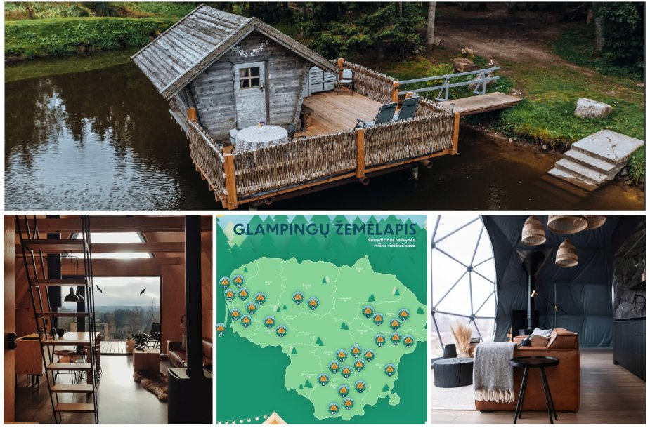Glampingų Lietuvoje TOP: kur rasti pačius jaukiausius miško viešbučius