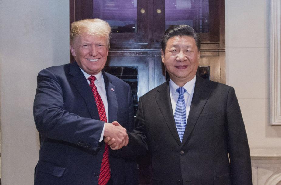 Donaldas Trumpas ir Xi Jinpingas