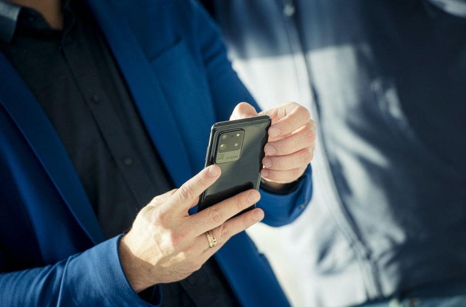 """Samsung Galaxy S20 Ultra"" išmanusis telefonas"