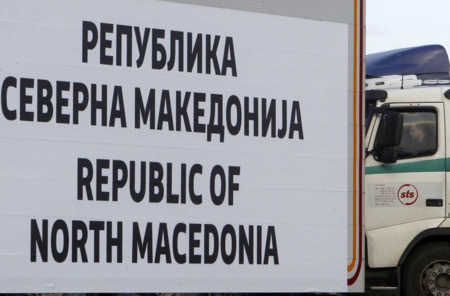 Makedonija oficialiai virto Šiaurės Makedonija