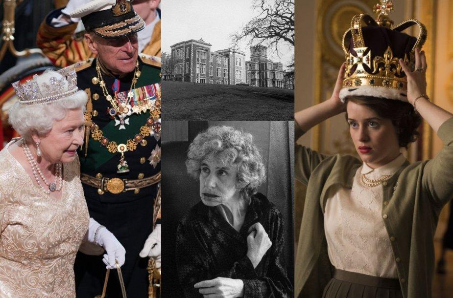 Elizabeth II, princas Philipas, Katherine Bowes-Lyon, aktorė Claire Foy