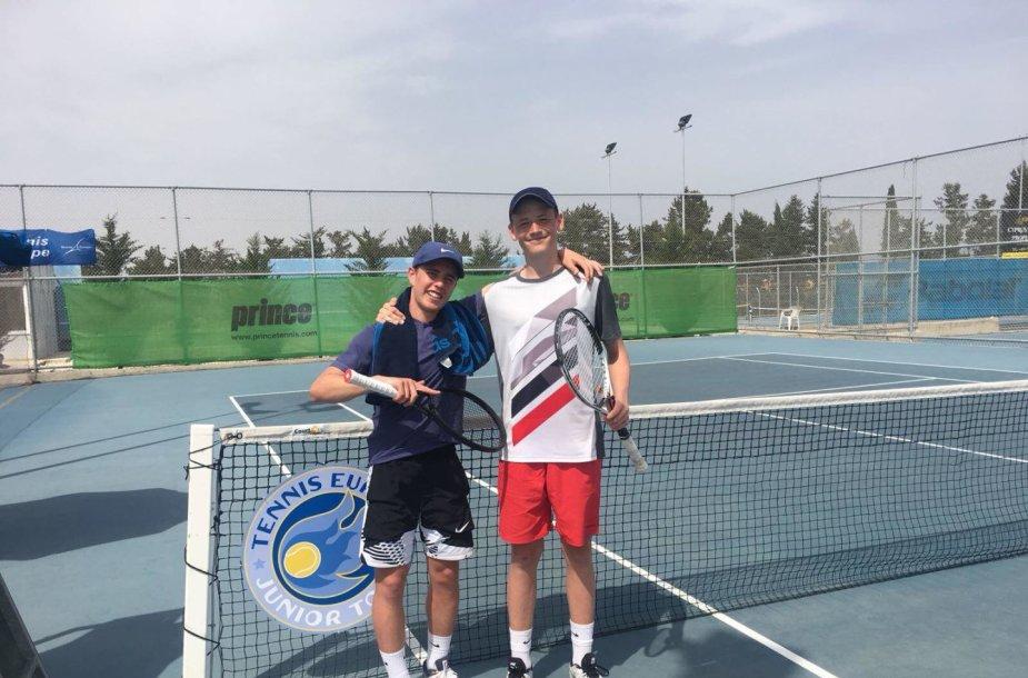 Justas Trainauskas ir Nikita Petrusenko