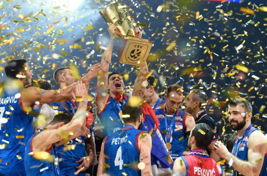 Serbija triumfavo Europos tinklinio čempionate