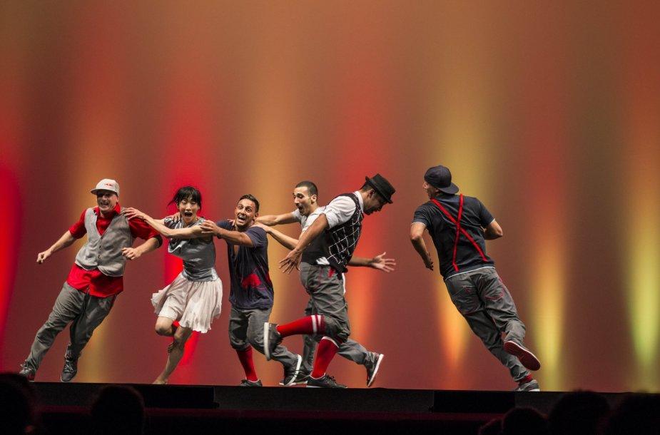 """Vokietijos šokių trupė """"Flying Steps"""""""
