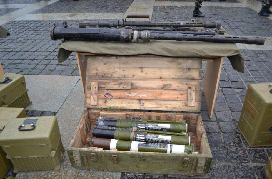 Teroristų ginklų paroda Kijeve