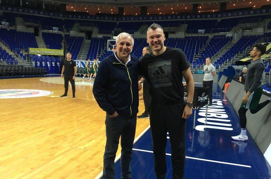 Željko Obradovičius ir Šarūnas Jasikevičius
