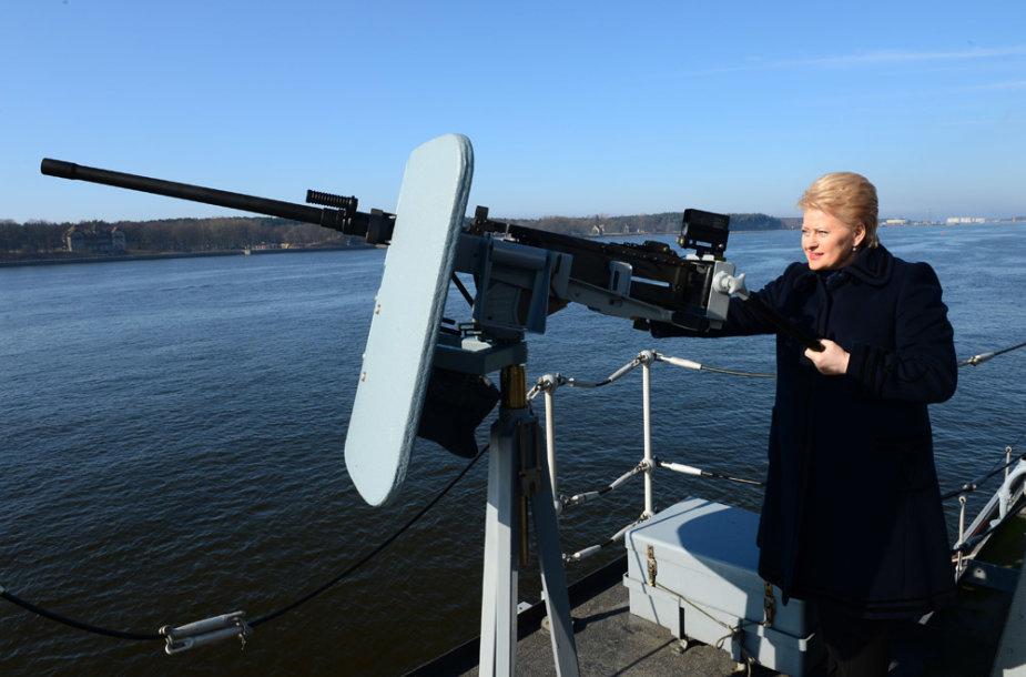 Dalia Grybauskaitė apsilankė Karinėse jūrų pajėgose