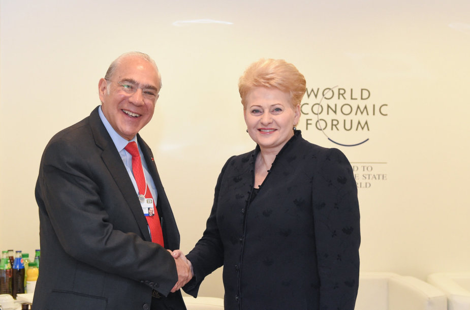 EBPO generalinis direktorius Angelas Gurria ir Dalia Grybauskaitė