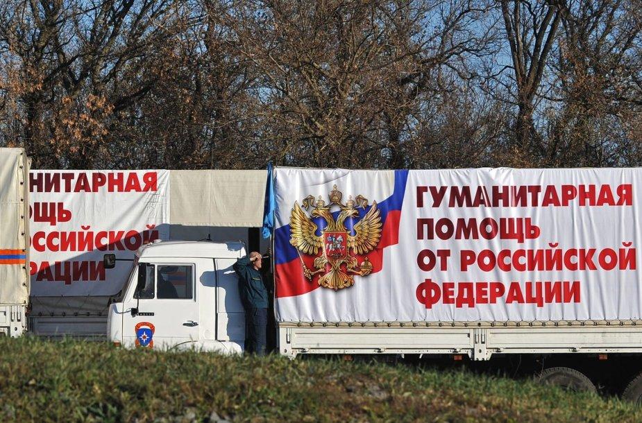 Rusijos humanitarinės pagalbos sunkvežimiai