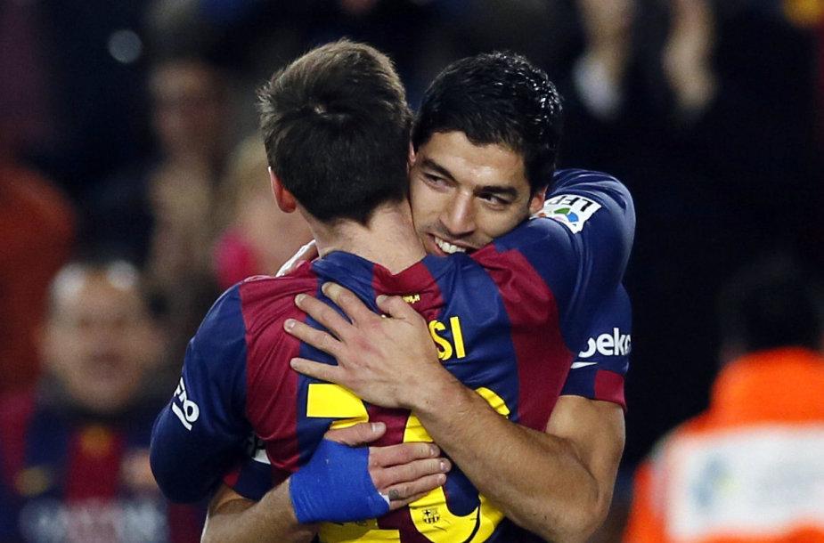 Lionelis Messi ir Luisas Suarezas