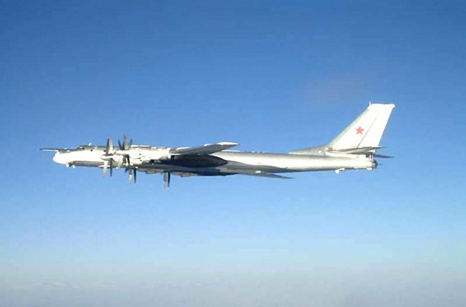 """Rusijos kariuomenės bombonešis """"Tupolev 95"""""""
