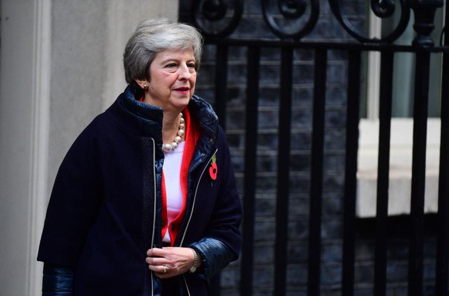 Britų premjerė Theresa May