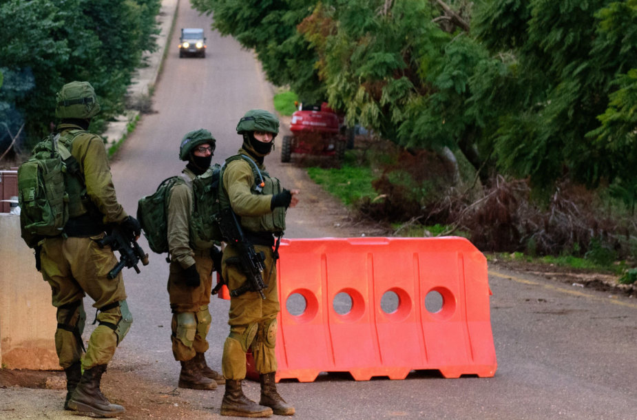 Izraelio kariai patikros punkte